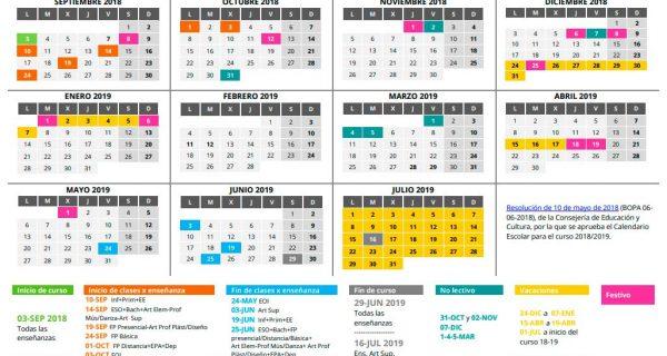 Calendario Escolar 2018/2019