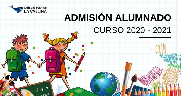 Admision Alumnado 2020 21 Lavallina
